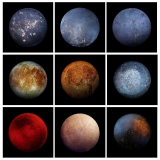 """Перед вами 9 изображений. Из них 8 фото старых кастрюль и сковородок, и только на одной приведен спутник Юпитера """"Европа""""."""